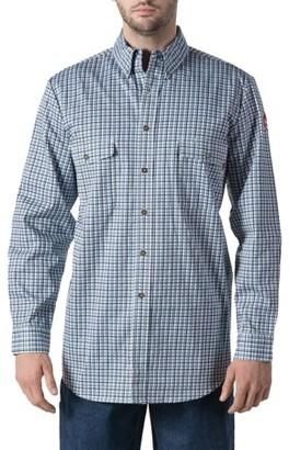 Walls Men's Flame Resistant Plaid Work Shirt, HRC Level 2