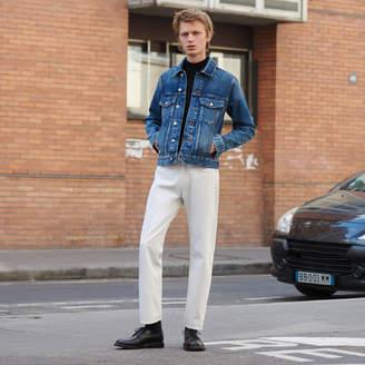 Sandro Straight-cut white jeans