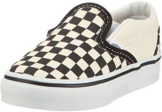 Vans Boys' Classic Slip-On (Toddler) - Black/White Checkerboard - 6 Toddler