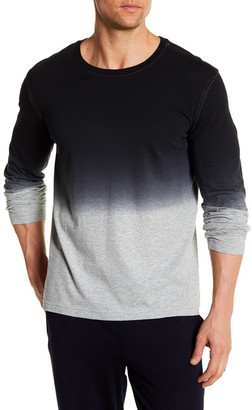 Daniel Buchler Dip Dye Long Sleeve Tee $88 thestylecure.com