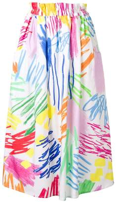 Mira Mikati Monster Stripe printed skirt