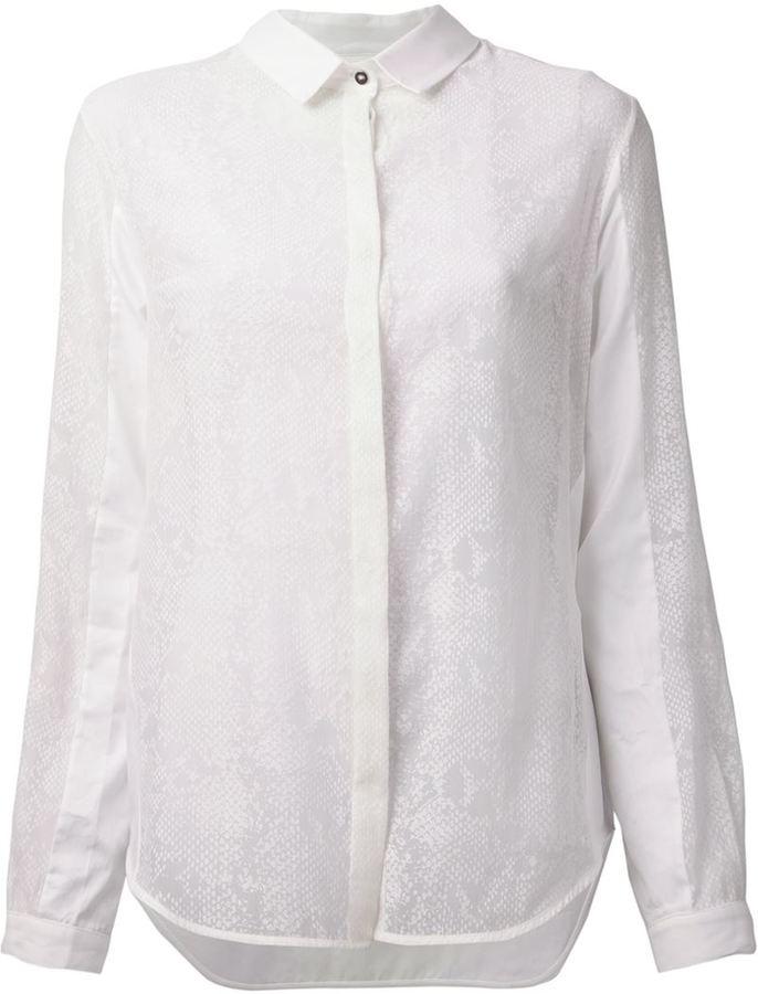 Richard Nicoll python sheer shirt
