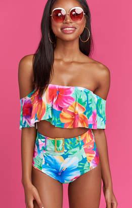 Show Me Your Mumu Bondi Ruffle Bikini Top ~ Malibu Barbie