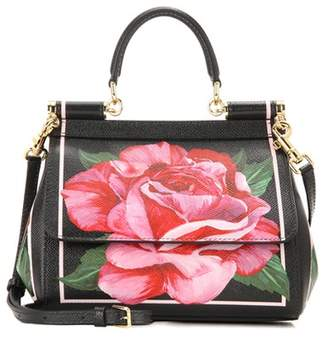 Dolce & Gabbana Sicily Small printed leather shoulder bag