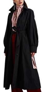 Martin Grant Women's Puff-Sleeve Trench Coat - Black