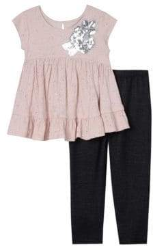 Little Girl's Two Piece Top and Legging Set