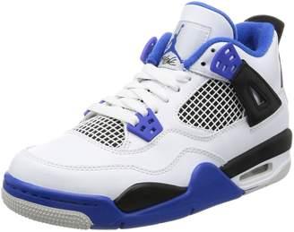 Nike Jordan Kids Air Jordan 4 Retro BG White/Game Royal Black Basketball Shoe 6.5 Kids US