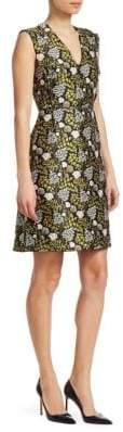 Giambattista Valli Floral-Print Jacquard A-Line Dress