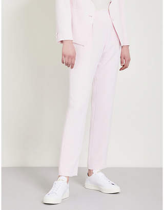 Claudie Pierlot Scalloped-trim crepe trousers