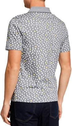 Original Penguin Men's Short-Sleeve Lemon-Print Polo Shirt