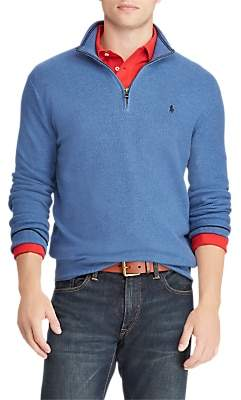 Ralph Lauren Polo Half Zip Textured Knit Jumper