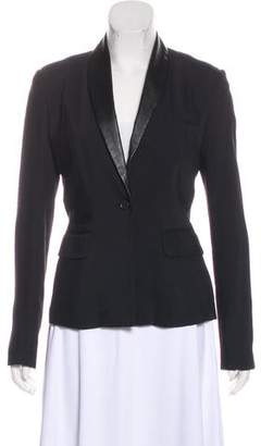 Elizabeth and James Leather-Trimmed Blazer