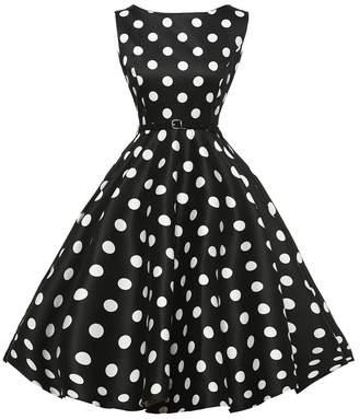 Forever 21 GRACE KARIN A-Line Retro Dresses for Women 1950 Style Sleeveless Size L F-50