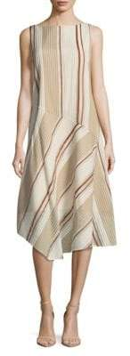 Lafayette 148 New York Printed Striped Dress