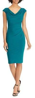 Lauren Ralph Lauren Cowlneck Sheath Dress