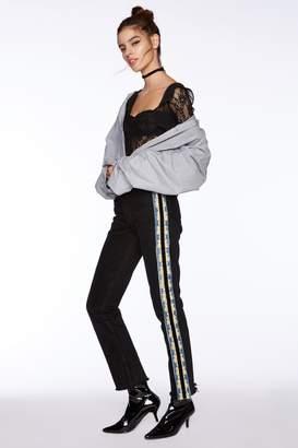 Nasty Gal After Party Vintage Bottom Line Striped Jeans