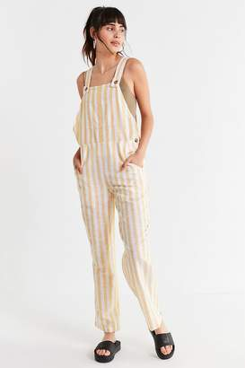 Urban Outfitters Allie Striped Button Overall