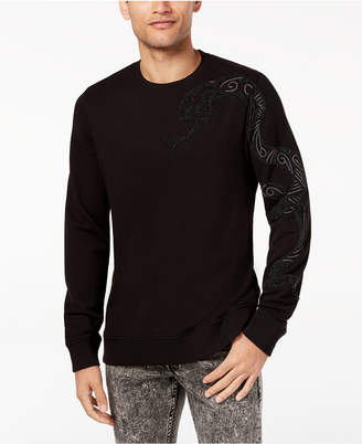 GUESS Men's Embroidered Rhinestone-Embellished T-Shirt