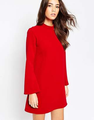Asos Design Tunic mini dress with Flared Sleeves