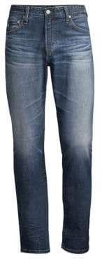 AG Jeans Everett Straight-Leg Faded Jeans