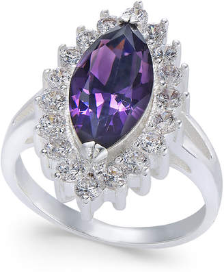 Charter Club Silver-Tone Crystal Marquise Ring, Created for Macy's