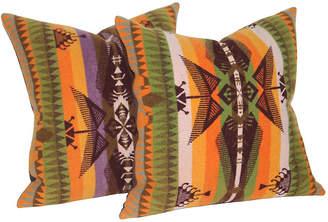 One Kings Lane Vintage Pendleton Camp Blanket Pillows - Set of 2