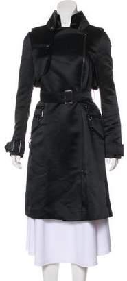 Thomas Wylde Satin Knee-Length Coat