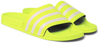 adidas Adilette Textured-Rubber Slides - Men - Yellow