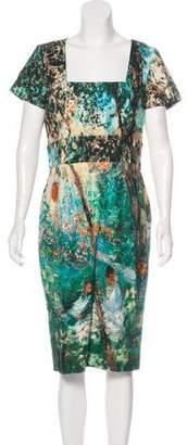 Paul & Joe Abstract Print Midi Dress