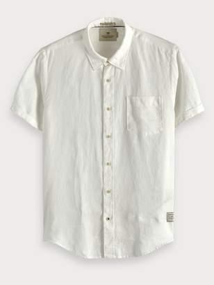 Scotch & Soda Linen Short Sleeve Shirt Regular fit