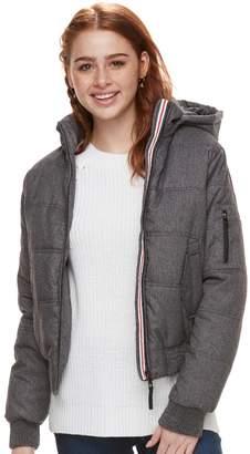 Urban Republic Juniors' Hooded Puffer Bomber Jacket
