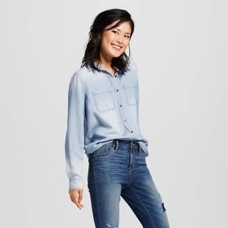 Mossimo Supply Co. Women's Denim Shirt - Mossimo Supply Co. (Juniors') $22.99 thestylecure.com
