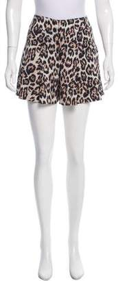 Alice + Olivia High-Rise Cheetah Shorts