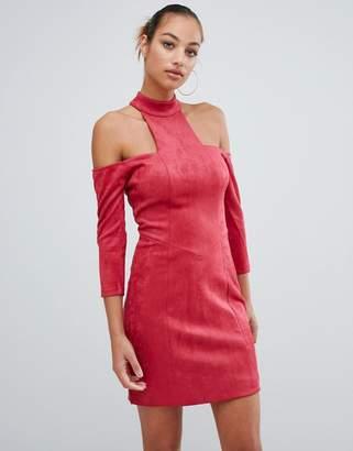 Forever Unique cold shoulder mini dress