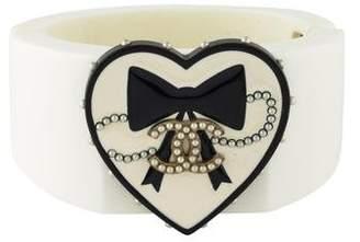 Chanel Faux Pearl, Enamel & Resin Cuff Bracelet