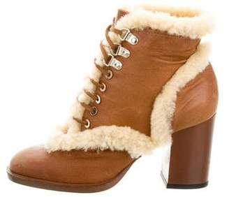 Laurence Dacade Leather & Shearling Ankle Boots
