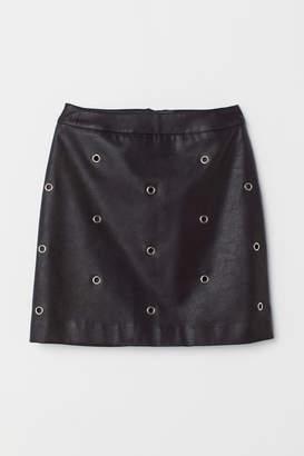 H&M Imitation leather skirt - Black