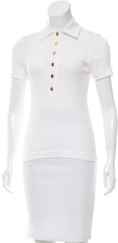 Tory Burch Tory Burch Short Sleeve Polo Top