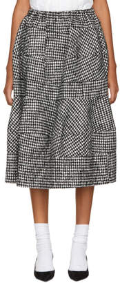 Comme des Garcons Black and White Houndstooth Skirt