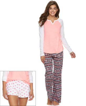 Juniors' SO® Pajamas: 3-Piece Pajama Set $40 thestylecure.com