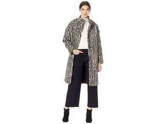 Juicy Couture Hard Woven Boulevard Leopard Coat