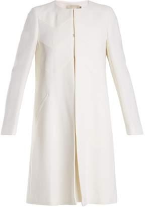 Goat Fairfax collarless wool-crepe coat