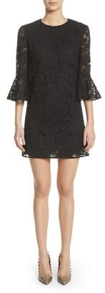 Valentino Lace Bell Sleeve Dress