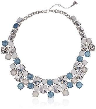 Betsey Johnson Women's La La Multi Stone Cluster Necklace
