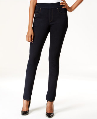 Style & Co. Pull-On Rinse Wash Slim Straight-Leg Jeans, Only at Macy's $49 thestylecure.com
