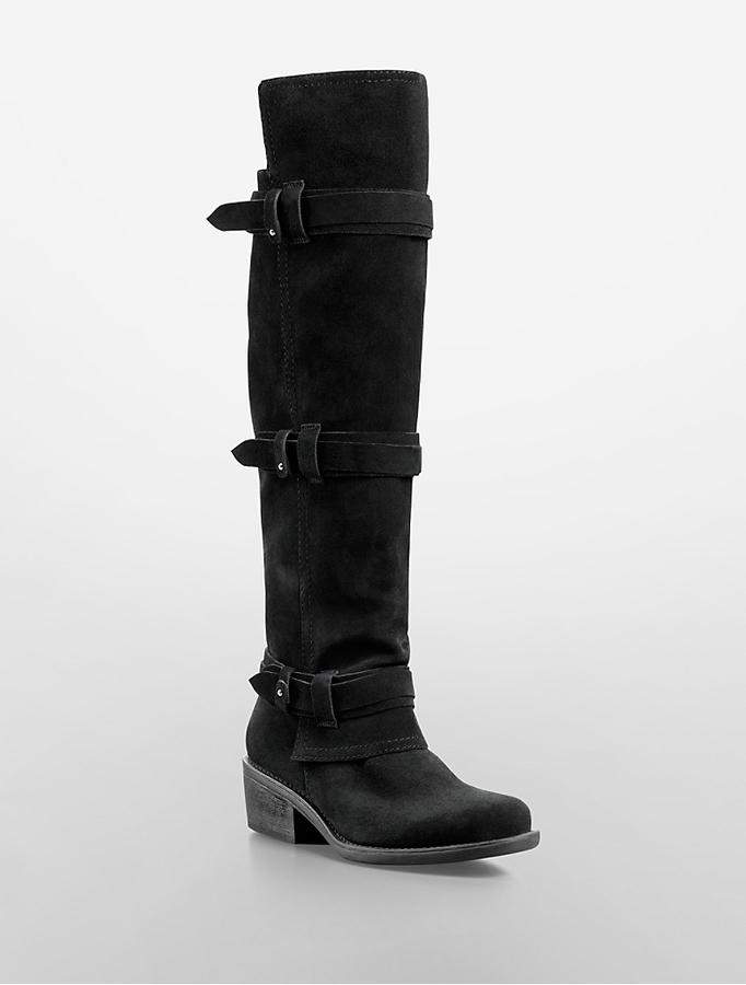 Calvin Klein Jeans Gem Suede Knee High Boot