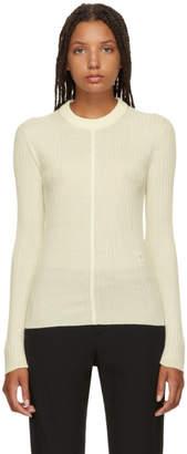 Chloé White Classic Crewneck Sweater