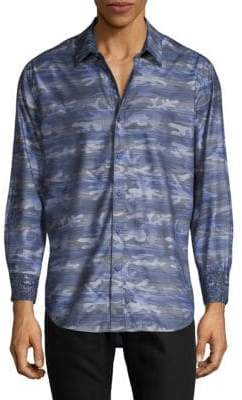 Robert Graham Camouflage Long-Sleeve Button-Down Shirt