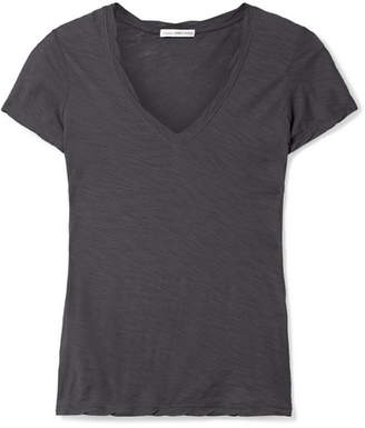 James Perse Casual Slub Supima Cotton-jersey T-shirt - Navy