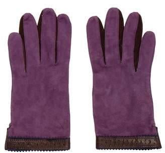 Bergdorf Goodman Suede Gloves